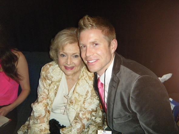 Betty White with Financial Guru David Rae at  GLAAD Media Awards