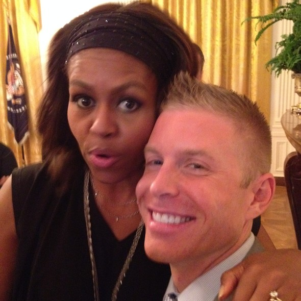 LGBT pride reception Financial Planner David Rae with Michelle Obama at the White House