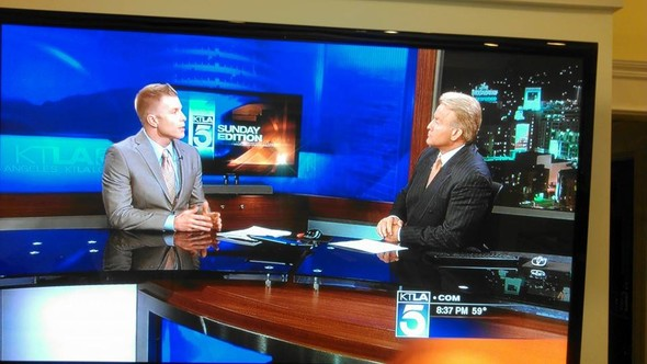 Financial Planner LA David Rae on the KTLA news sharing expert financial advice